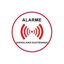 Autocollant sous vidéo surveillance alarme logo 5 15x15 cm