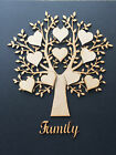 2 pack Wooden MDF Family Tree & hearts, weddings guestbooks 002