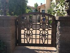 Metal Gate Custom Italian Entry Walk Thru Pedestrian Garden Iron Art Ornamental