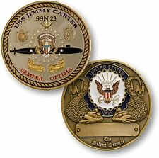 NEW USS Jimmy Carter SSN-23 Semper Optima Challenge Coin. 60119.