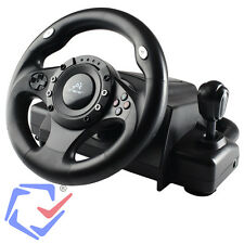 Tracer Drifter Quality Steering Wheel  Gearbox PC PS2 PS3 Black