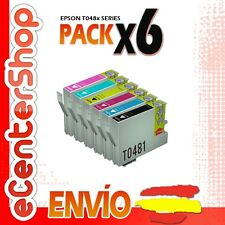 6 Cartuchos 0481 0482 0483 0484 0485 0486 NON-OEM Epson Stylus Photo RX300