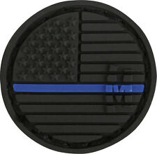 PVC Patch MAXPEDITION USA FLAG - MICRO circle L.E. THIN BLUE LINE hook backing