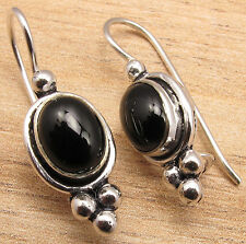 925 Silver Plated BLACK ONYX ONLINE SHOPPING Earrings Jewelry BESTSELLER GIFT