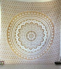 Large Indian Ombre Mandala Tapestry Wall Hanging Bedspread Throw Dorm Decor Art