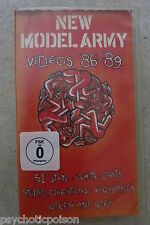 New Model Army ‎– Videos '86-'89 VHS PAL Stereo Limited Edition 1989 MVR 9900823