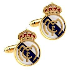 REAL MADRID CF CUFFLINKS Football Club Sports Fan Team Soccer NEW w GIFT BAG