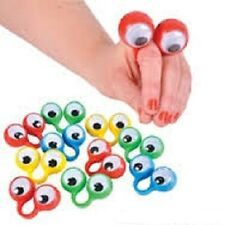 (6) OOBI FINGER EYE HAND PUPPETS Noggin Party Favor Wiggly #BB11 Free Shipping