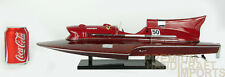 Ferrari Hydroplane Classic Wooden Speed Boat Display Model
