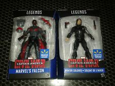 FALCON & WINTER SOLDIER- Marvel Legends Action Figures- New Walmart exclusives!