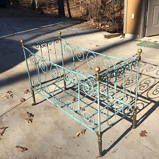 French Wrought Iron Folding Baby Bed circa 1890