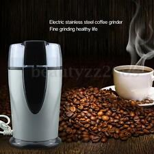 130W Electric Coffee Bean Grinder Mill Latte Nut Spice Herbs Stainless Steel