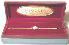 Vintage Ladies LONGINES 17J Wrist Watch Solid 14K Gold Runs 13.2 Grams