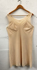 Vintage 1960's Slip Dress LINGERIE Cream Buttermilk Size 18 uk Mod Rockabilly