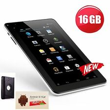 "9"" POLLICI QUAD CORE FOTOCAMERA WIFI Google Play Android Tablet PC con Custodia Bundle 16gb"