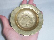 Antique Chinese MINIATURE Brass Plate