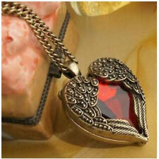 Fashion Retro Red Heart Collar Long Necklace Gothic Victorian Steampunk Jewelry