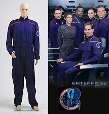 Star Trek cosplay Enterprise Duty Jumpsuit Uniforme Costume Rosso *Su Misura*