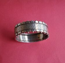 Rare Antique 1830's Victorian Sterling Silver Bangle Cuff Bracelet 32 grams