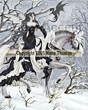 Nene Thomas CHANCE ENCOUNTER Ceramic Fairy Tile 8x10 Fantasy Faery & Dragon Art