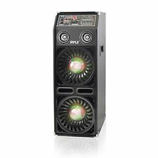 NEW Pyle PSUFM1068BT Disco Jam 2 Bluetooth Active Powered PA System  DJ Lights