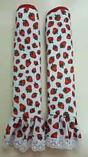 2x Refrigerator Decorative Handles Covers Beautiful Fabric Kitchen strawberry