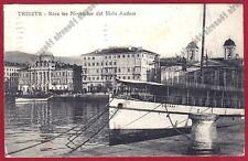 TRIESTE CITTÀ 193 MOLO AUDACE - BATTELLO SAMOS Cartolina viaggiata 1922