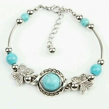 Newly Arrival Trendy Turquoise Mosaic Handmade Butterfly Bracelet
