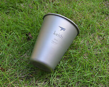 Keith Titanium Water Beer Cup Mug Picnic Cookware Accessory 43g 450ml Ti9002