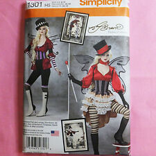 Simplicity 1301 or S0791 Steampunk Hat Corset Blouse Skirt Costume PATTERN 14-22