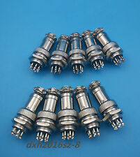 10Pcs Aviation Plug GX16-8 Male Female and Panel Metal Connector 16mm 8pin