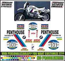 kit adesivi stickers compatibili  r 80 r 100 gs rep. paris dakar 1984 penthouse