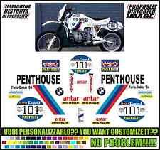 kit adesivi stickers compatibili  r 80 r 100 gs rep. paris dakar 1984 penthouse