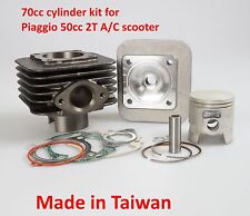 70cc cylinder piston kit for Piaggio 2T 50cc Typhoon ZIP Fly Air cooled scooter