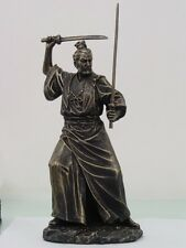 Japanese Samurai Bushido w Double Swords Warrior Figurine Statue Battle Stance