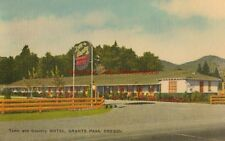 Vintage Postcard Town and Country Motel Grants Pass Oregon Linen PC