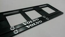 2X VOLVO EUROPEAN LICENSE NUMBER PLATE SURROUND FRAME HOLDER