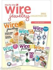 NEW! Step by Step Wire Jewelry All 6 Issues 2011 Collection Magazine on CD