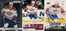MONTREAL Canadiens Max Pacioretty 3 card base lot 13/14 Prizm 11/12 Contenders +