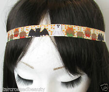 Halloween Ghost Bat Print Headband Kawaii Punk Emo Goth Stretch Fancy Dress Q98