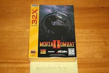 Mortal Kombat II (Sega Genesis 32X) - NEW SEALED, EXCELLENT, RARE MK GAME!