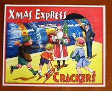 1940s Vintage England Christmas Cracker Label  Xmas Express