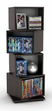 Storage Tower 4 Tier Multimedia Rotating Cube DVD CD Book Stand Rack Shelves New