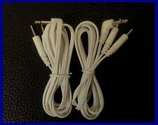 3.5mm Male Plug TENS Machine Lead Wires Cables,1x Pair(2 Leads)