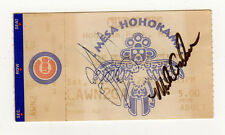 SIGNED CHICAGO CUBS TICKET STUB San Francisco Giants MLB Mesa Hohokams ARIZONA