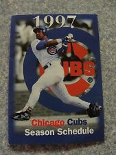 L#13  1997 Chicago Cubs pocket schedule, NrMt condition