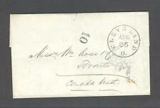 1855 US-Canada Cross-Border letter CLEVELAND to BUFFALO to TORONTO Canada West
