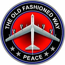 "ProSticker 215 (One) 4"" Peace The Old Fashioned Way B-52 Bomber Plane Decal"