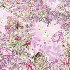 Michael Miller Petal Flowers Fairies Pink Fabric