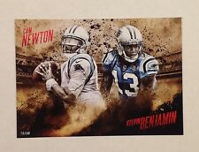 Cam Newton Kelvin Benjamin #ed/99 5x7 2014 Topps Competitive Fire 2015 PANTHERS